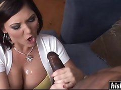 Big-Breasted Cutie Makes A Guy Cum Load On Her - claire dames